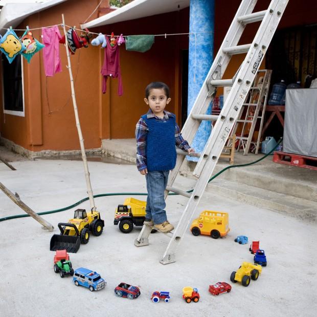 Abel é de Nopaltepec, no México, e tem 4 anos.