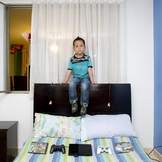 Louis tem 4 anos e é de Buena Vista, Colômbia.