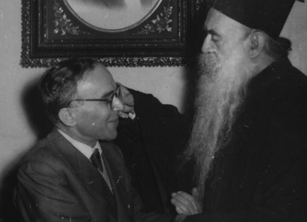 La Pira com o patriarca ecumênico Atenágoras em Constantinopla. Foto: Fundação Giorgio La Pira