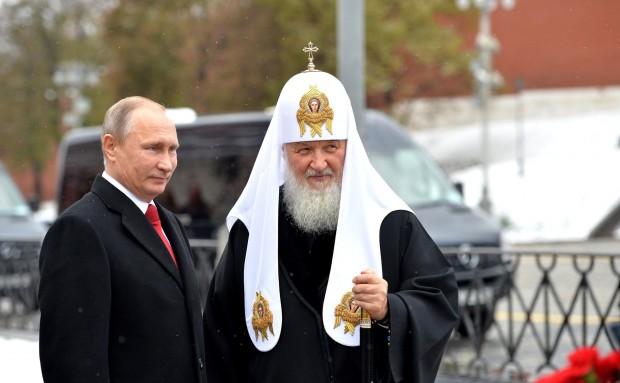 Putin e Kirill em novembro de 2016. Foto: Sala de Imprensa da Presidência Russa.