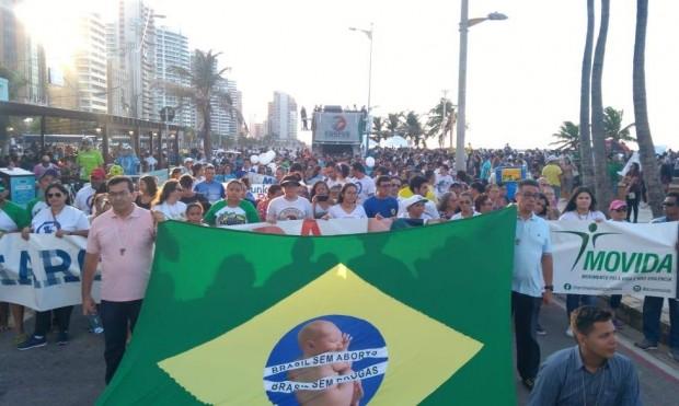 Marcha pela Vida de Fortaleza, ocorrida em 24 de setembro desse ano (foto: divulgação/Marcha Pela Vida)