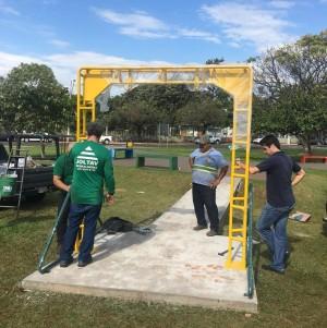 Uma rampa de acesso também foi construída. Foto: Arquivo pessoal/Paulo Deodato
