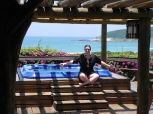 Descanso na Praia do Rosa