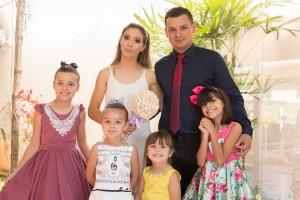 Para a família de Danieli, as atitudes solidárias das filhas fazem parte da rotina. Foto: Arquivo pessoal/Danieli Smychniuk