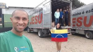 Anderson se juntou a Luis na missão de ajudar os venezeulanos. Foto: Arquivo pessoal