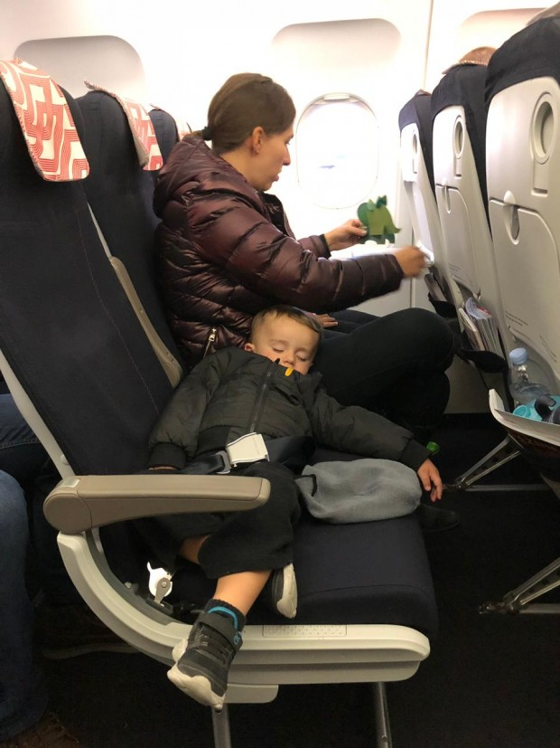 Avião com crianças - Arquivo Pessoal