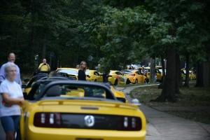 Mais de 100 carros amarelos estavam nas ruas perto da casa de Whitaker em Alexandria, Virginia, na quarta-feira, 11 de setembro de 2019. | Foto: Astrid Riecken/The Washington Post