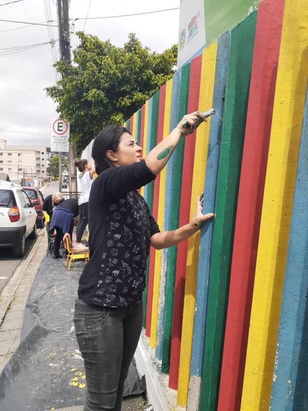 Revitalização do Centro Municipal de Educação Infantil Tio João.| Arquivo Pessoal/Samuel Ferreira