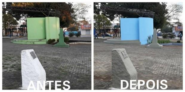 Revitalização da Praça Central de Tijucas do Sul. | Arquivo Pessoal/Samuel Ferreira