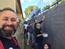 Ação realizada na Escola Municipal Padre António Vieira. | Arquivo Pessoal/Samuel Ferreira